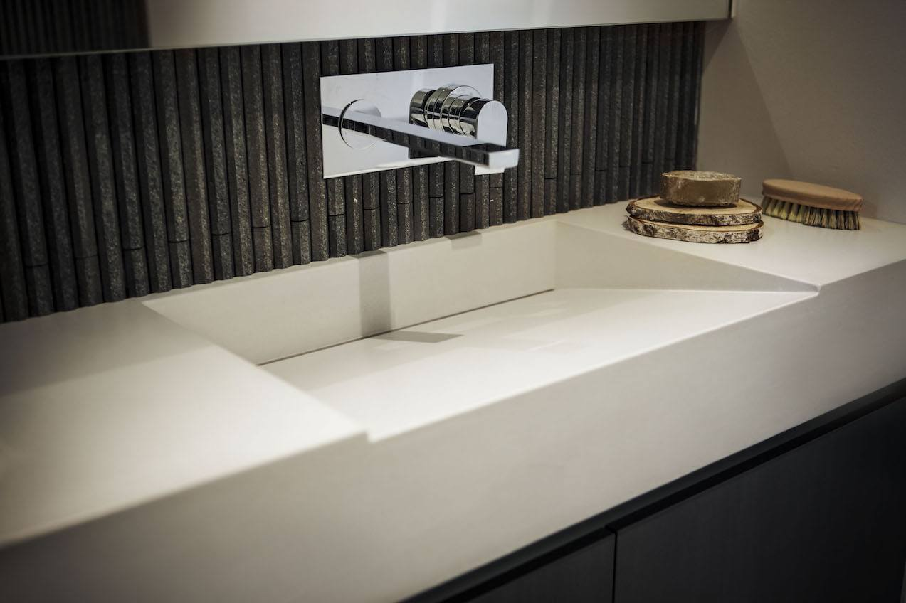 Image showing Dimano glass reinforced concrete bathroom vanity unit