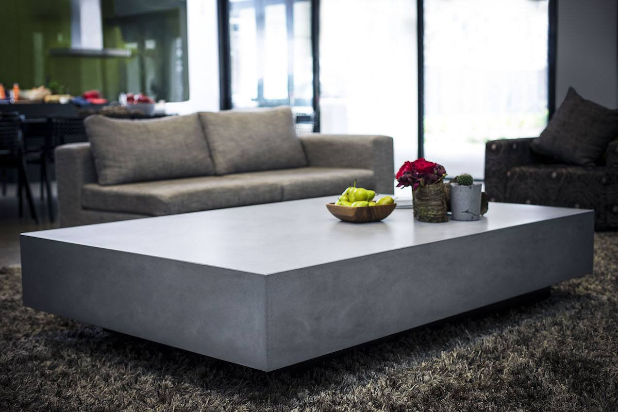 Image of Dimano glass reinforced concrete coffee table in grey